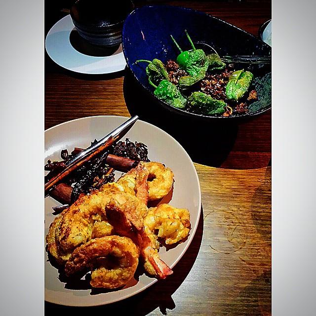 Five spice Mooloolaba #Prawns and Stir-fried #Bangalow #Pork @madamewubris. Sensational. #brisbanebars #brisbanefood #brisbanerestaurants #brisbanedinner #brisbaneeats #dumplings #asianfoodbrisbane #madamewu #GourmetGallivanting